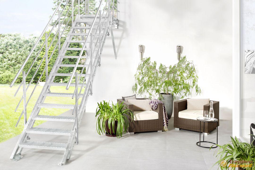 au entreppe hollywood mit podest und streckgitterstufen. Black Bedroom Furniture Sets. Home Design Ideas